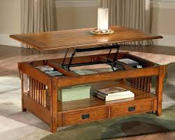 pull up coffee table hinged top
