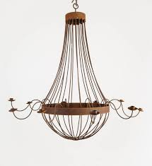 rusted french bell chandelier with ten arms this extra large fixture makes a wonderful statement