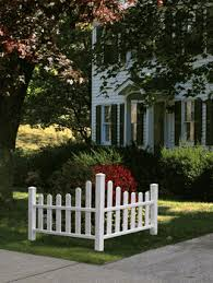 Outdoor ideas  White corner picket fence ...