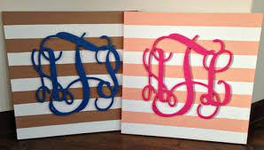 perfect canvas monogram wall art i
