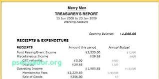 Non Profit Treasurer Report Template Non Profit Treasurer Report Template Awesome Free Templates Download