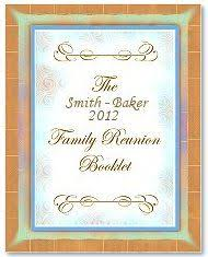 Family Reunion Book Template Family Reunion Keepsake History Memory Book A 10 Page Template
