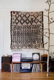 rug hung on wall