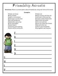 Poetry Templates Friendship Poetry Pack Acrostic Cinquain Diamante And