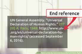 ways to cite the universal declaration of human rights wikihow image titled cite the universal declaration of human rights step 11