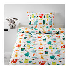 LATTJO Quilt cover and pillowcase Animal/multicolour 150x200/50x80 ... & IKEA LATTJO quilt cover and pillowcase Easy to keep clean; machine wash hot  (60 Adamdwight.com