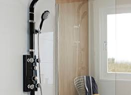 hudson reed black thermostatic shower panel