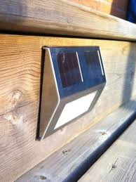 stair step lighting. Solar Deck Lights, Set Of 4 Stair Step Lighting I