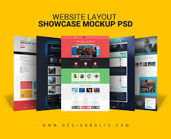 Website Mockup Template Awesome Free Website Layout Design Showcase Mockup PSD For Web Designers