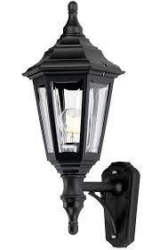 light outdoor wall lantern black