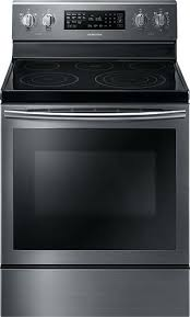 glass stove cu ft self cleaning freestanding electric convection range black stainless steel glass stove top