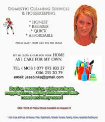 domestic cleaner housekeeper self employed domestic cleaning domestic cleaner housekeeper self employed domestic cleaning services in leicester le4 area