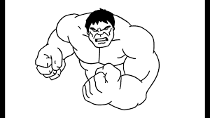 Come Disegnare Hulk Incredibile Avengers Youtube