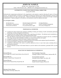 Funeral Director Resume. Sales Executive Resume Sample Job Interview Career  Guide