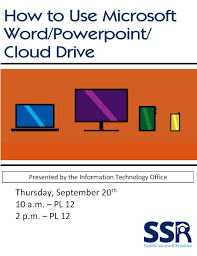 How To Use Microsoft Word Powerpoint Cloud Drive Wesley College