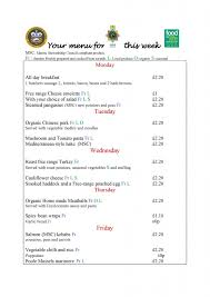 Weekly Menu Weekly Menus | Poole Grammar School