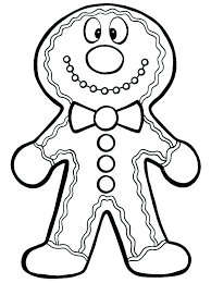 Coloring Pages Gingerbread Man Coloring Sheet Sheets Page Pages