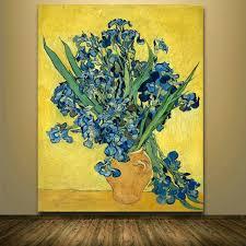 van gogh lilies iris in vase van gogh lilies iris