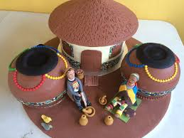 The Ndebele Traditional Wedding Cake Cakecentralcom
