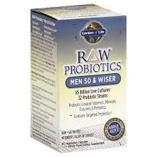 garden of life raw probiotics probiotics men 50 wiser vegetarian capsules