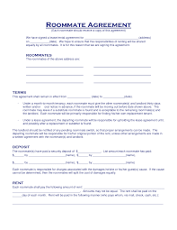 Roommate Agreement Contracts Roommate Agreement Template E Commercewordpress