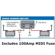p ha dual battery management system isolator 140amp fuse d max manufacturer number dbe140sf