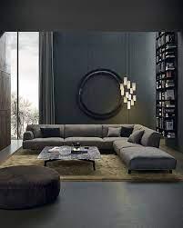 dark furniture living room ideas