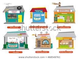 Set 1 Philippines Commercial Small Business Stock Vector Royalty