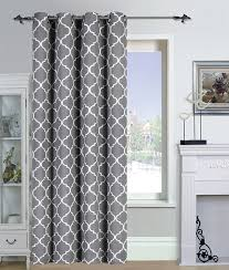 Amazon.com: Printed Blackout Room Darkening Color Block Grommet Curtain  Panel 52 inch wide by 84 inch long - Decorative Curtains by Utopia Bedding  (Printed ...
