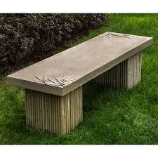 campania international sagano cast stone backless garden bench hayneedle