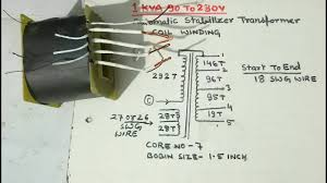 Transformer Bobbin Sizes Chart Pdf 1kva 90v To 280v Automatic Stabilizer Transformer Coil Winding Yt 58