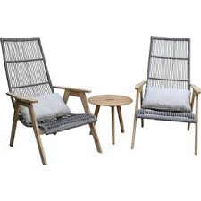 modern metal patio furniture. Fine Patio Largent Teak Patio Chair With Cushions Set Of 2 Inside Modern Metal Furniture R