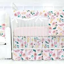 mermaid baby bedding blush blossoms with pink and peach fl crib bedding set mermaid baby crib