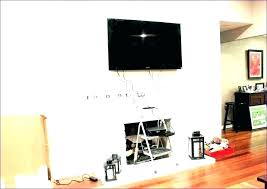 hide wires on wall how to cables without cutting mounting hiding cable along mounted tv uk