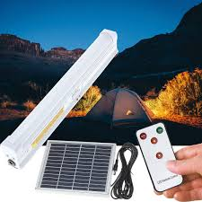 Solar Bar Light Solar Powered 30 Led Light Bar Home Room Camping Outdoor Garden Hanging Lamp With Remote Control