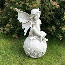 fairy garden statues. Simple Statues LARGE 12u0026quot FAIRY GARDEN STATUE ORNAMENT FIGURE ANTIQUE STONE EFFECT  SCULPTURE For Fairy Garden Statues A