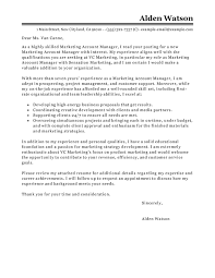 Entry Level Marketing Cover Letter Cool Best Account Manager Cover Letter Examples LiveCareer