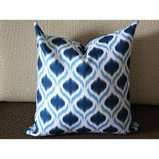 blue and white pillows. Wonderful White Blue Ikat Pillow  White Medium Diamond  Designer Decorative Throw 263 To And Pillows L