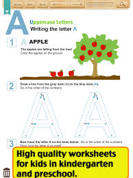 Kids Writing-Alphabet Worksheets(Kindergarten) (iPad) reviews at ...