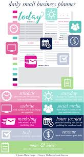 Business Day Planners Printable Daily Business Planner