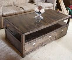 DIY coffee table with storage - Took some hunting but I found the site with  the