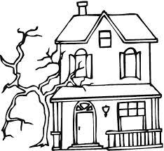 Small Picture Haunted House Printable Kids can color and customize their house