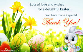 Thank You Easter Thank You For A Delightful Easter Free Thank You Ecards