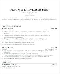 Sample Executive Assistant Resume Inspiration Administrative Assistant Sample Resume Resume Office Assistant
