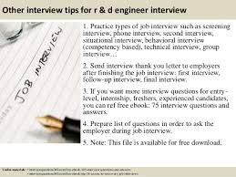 Follow Up Interview Letter Stunning Top 44 R D Engineer Interview Questions And Answers