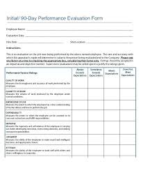 Self Evaluation Performance Review Downloadable Job Sample Form With ...