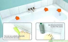 remove old caulk from bathtub remove calk from shower image titled caulk a bathtub step 1
