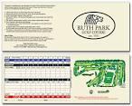 Ruth Park Golf Course - Scorecard - Fore Better Golf, Inc.
