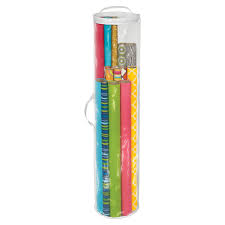Cylindrical Gift Wrap Organizer Gift Wrap Storage Container R12