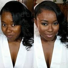 beautiful african american bride in st louis missouri her bridalmakeup was stunning bridalmakeup weddingmakeup blackbride stlouis makeupartist